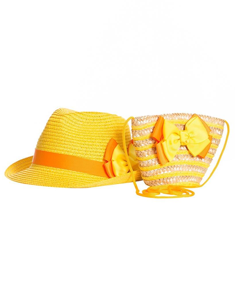 Комплект шляпка детская + сумка