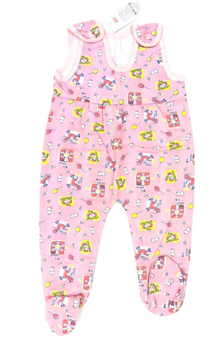 Ползунки розового цвета для девочки 74 размера