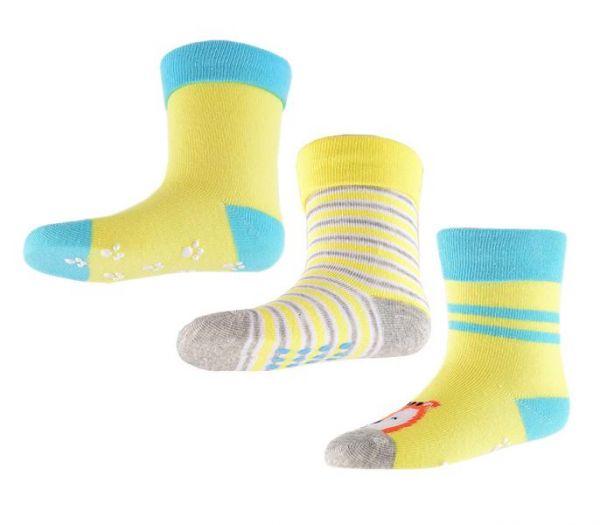 Носки детские 3 пары желтого цвета от Crockid