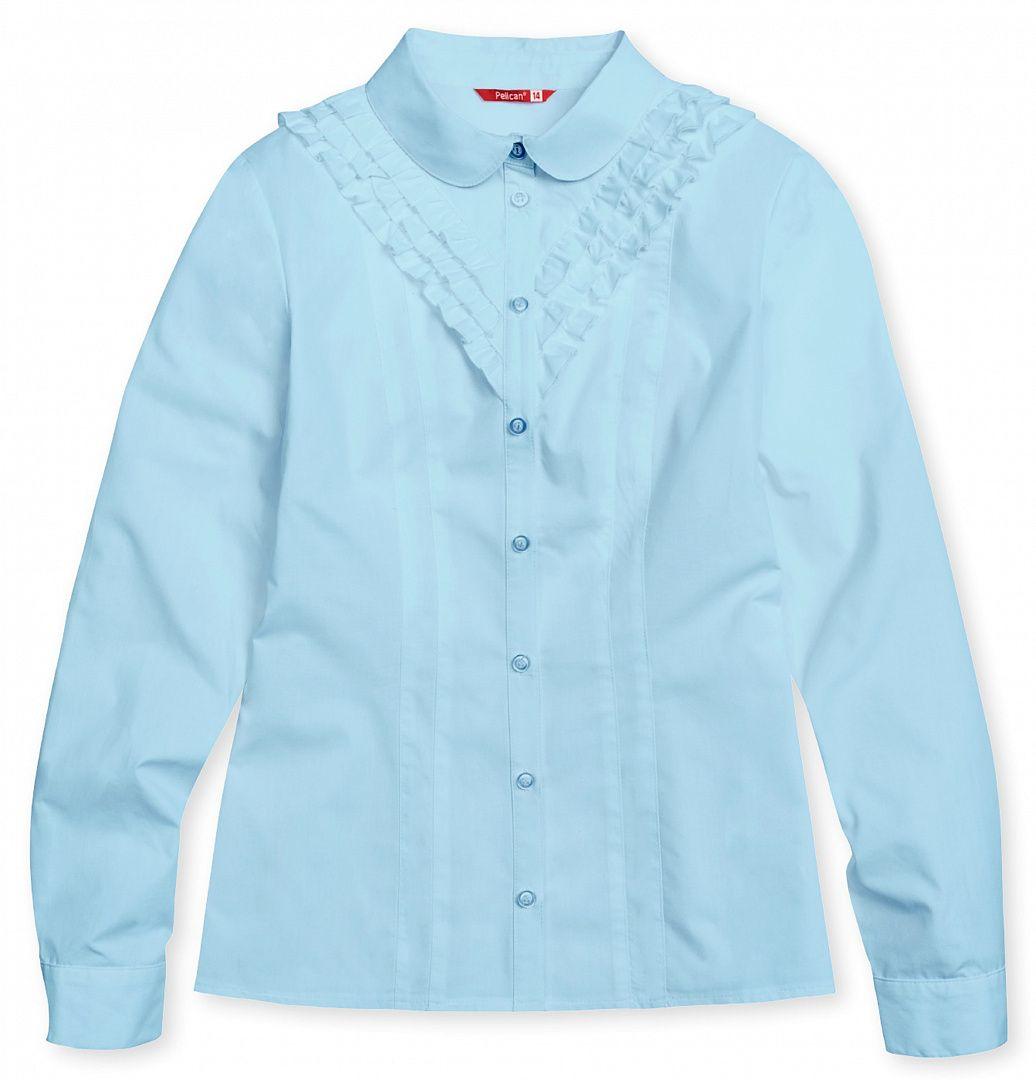 Блузка голубая для девочки 14 лет
