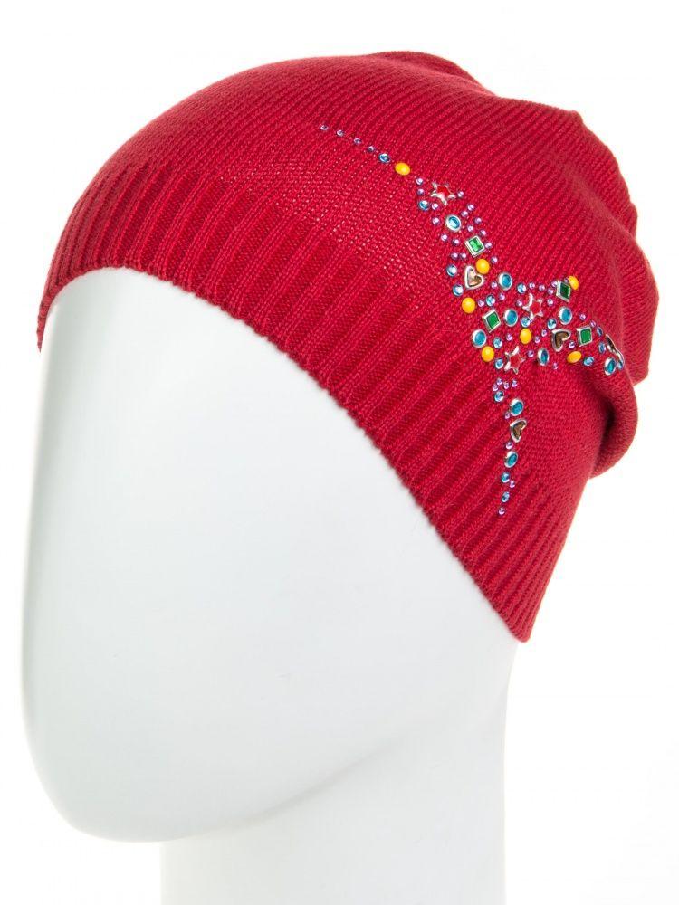 Красная шапка для девочки, размер 50-54