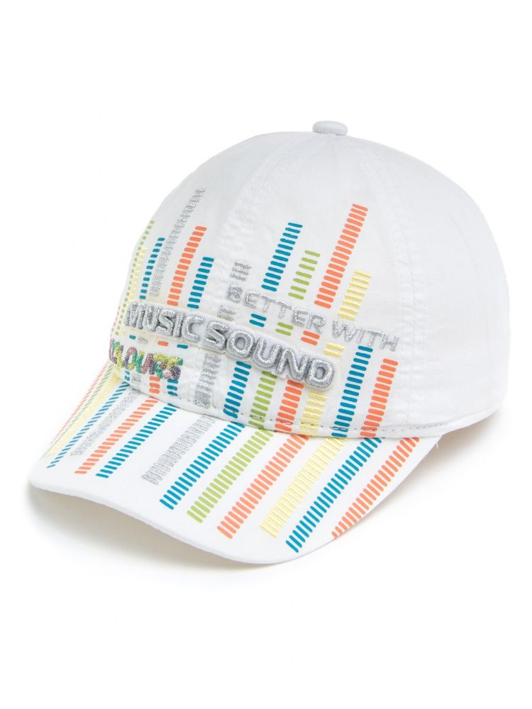 Белая бейсболка Music sound