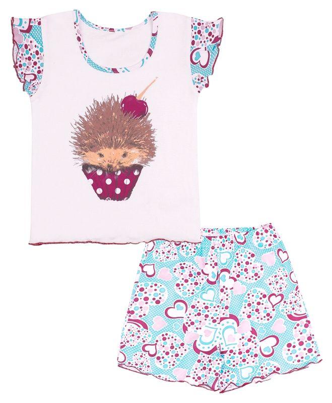Пижама для девочки Ежик с вишенкой