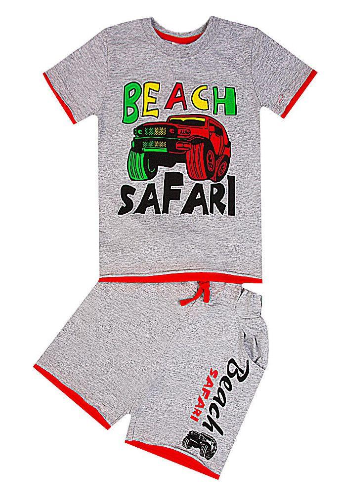 Комплект Beach Safari цвета серый меланж