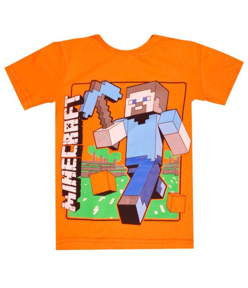 Футболка оранжевая Minecraft