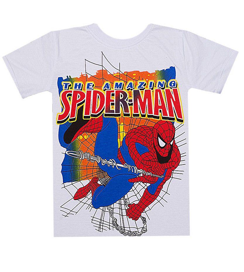 Футболка белая для мальчика Spider Man
