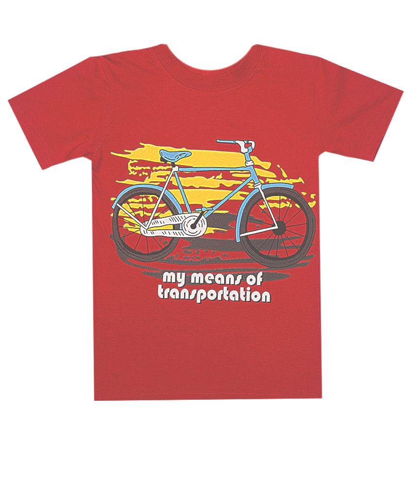 Футболка красная Велосипед