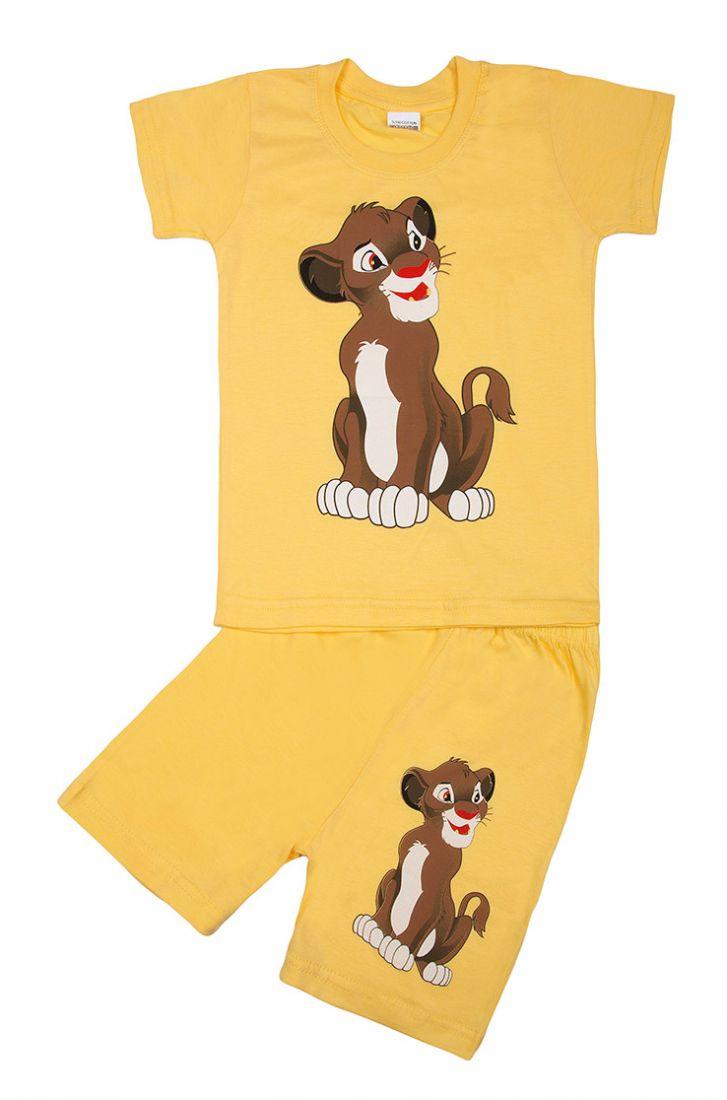 Желтый комплект из футболки и шортиков