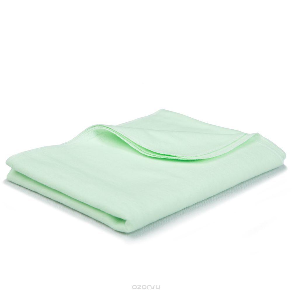 Бирюзовая фланелевая пеленка, 85x120 см