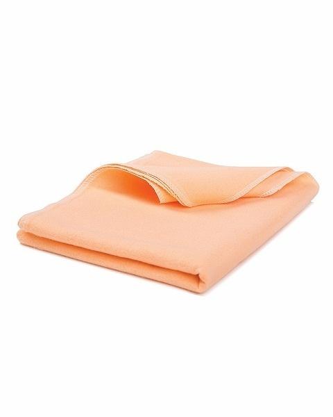 Фланелевая пеленка персикового цвета, 85x120 см