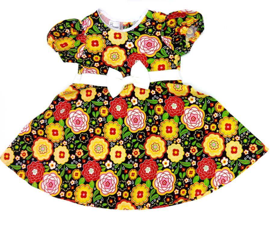 Платье для девочки хлопковое от Tobby