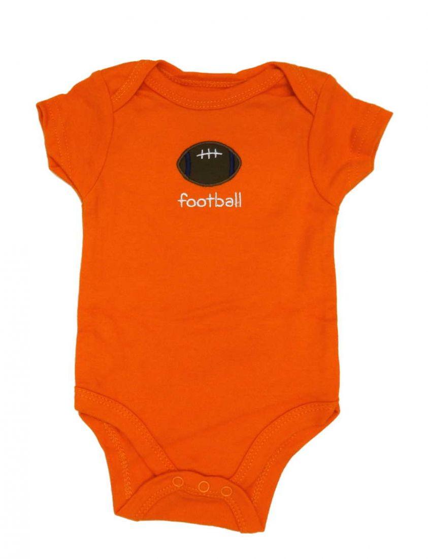 Боди оранжевого цвета для мальчика