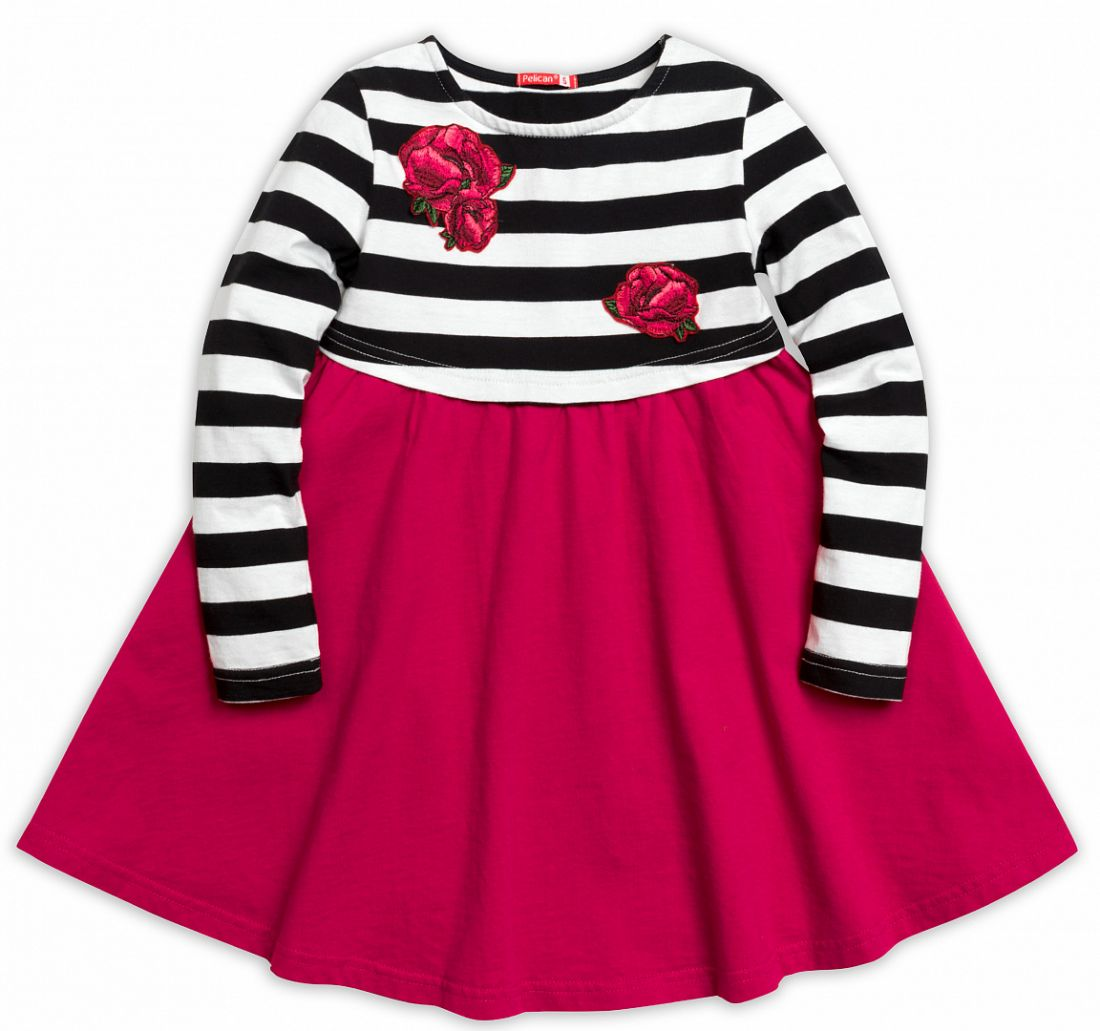Платье для девочек Алые цветы