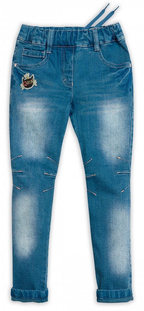 Синие джинсы для девочки 4 лет