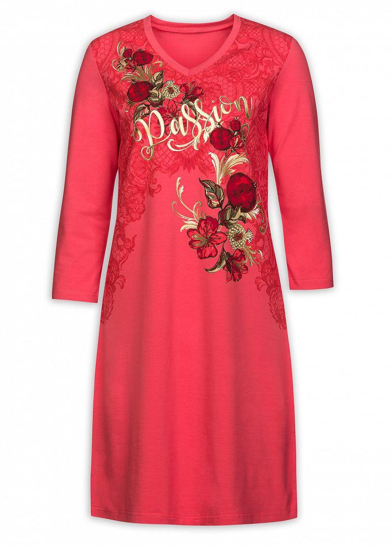 Розовое женское платье Цветы на размер L