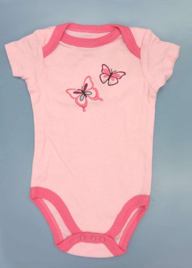 Розовое боди Бабочки