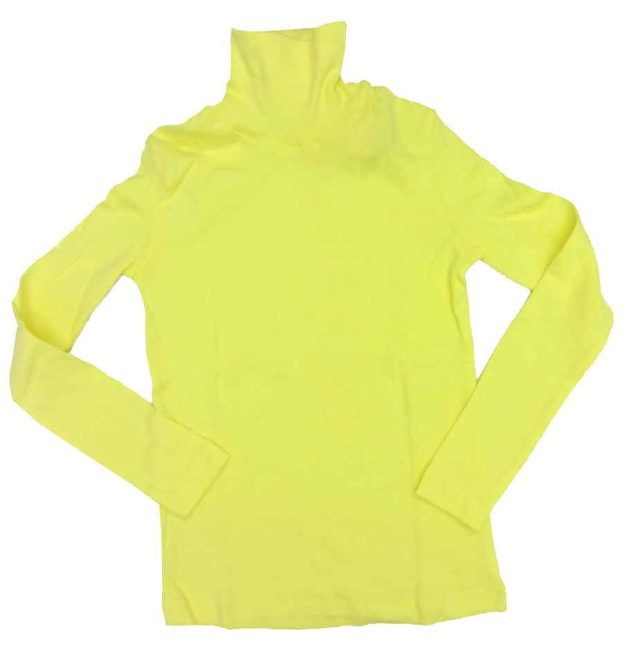 Желтая водолазка для девочки 7-8 лет
