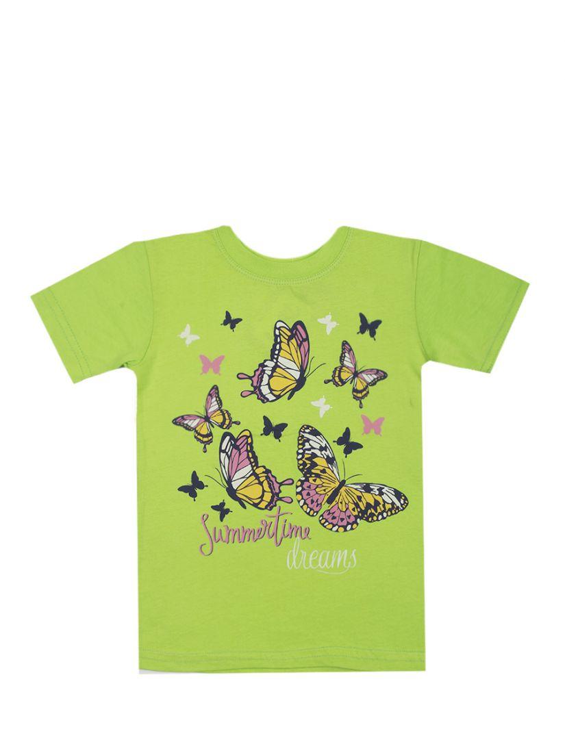 Футболка для девочки Бабочки