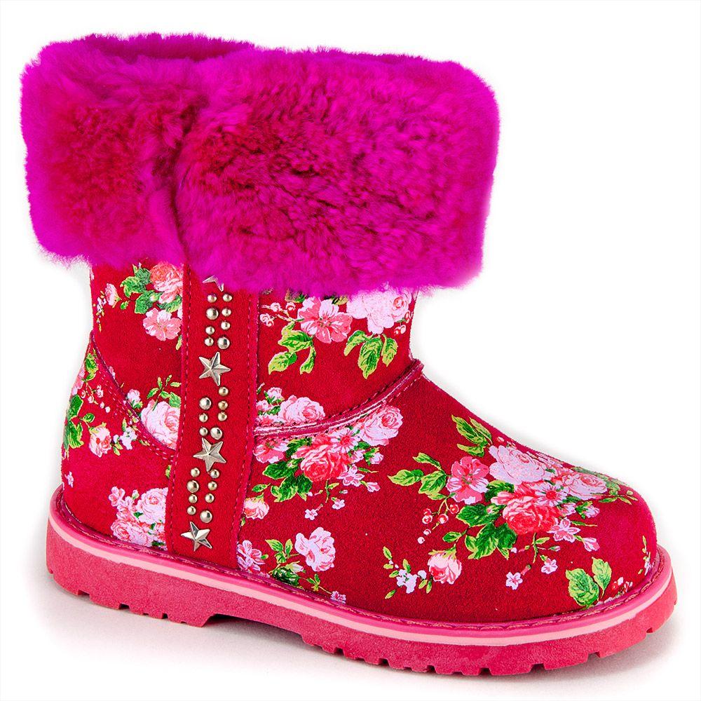 Сапоги для девочек цвет красный