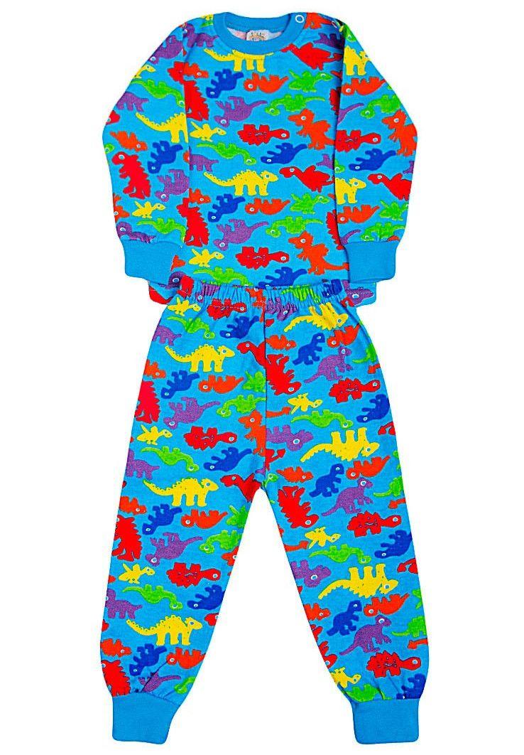Пижама с начесом голубая
