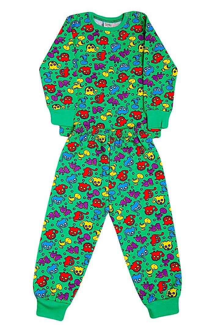 Пижама с начесом Дино