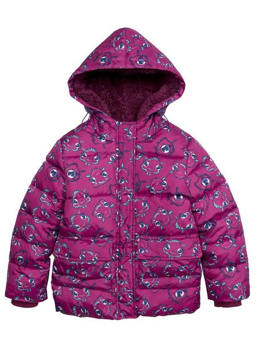 Куртка для девочек, цвет малиновый
