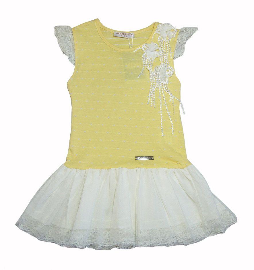 Желтое платье для девочки 3-4 лет