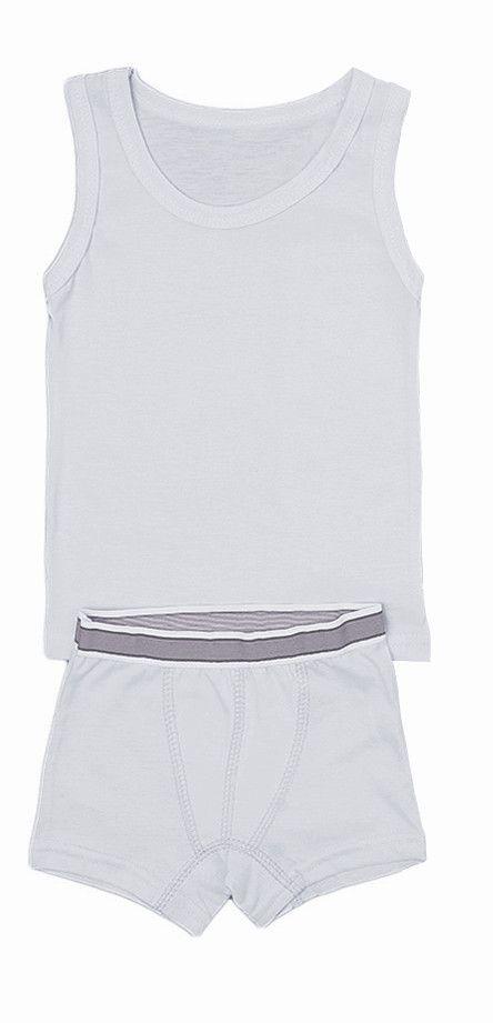 Комплект белья для мальчика Серый