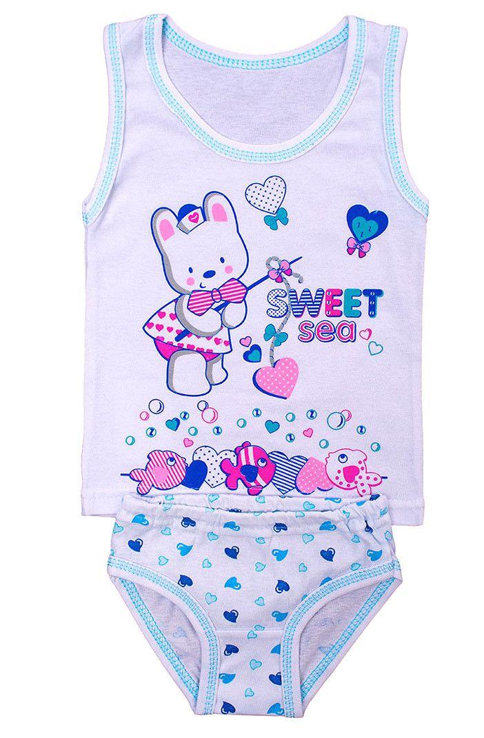 Комплект белья для девочки Happy teddy