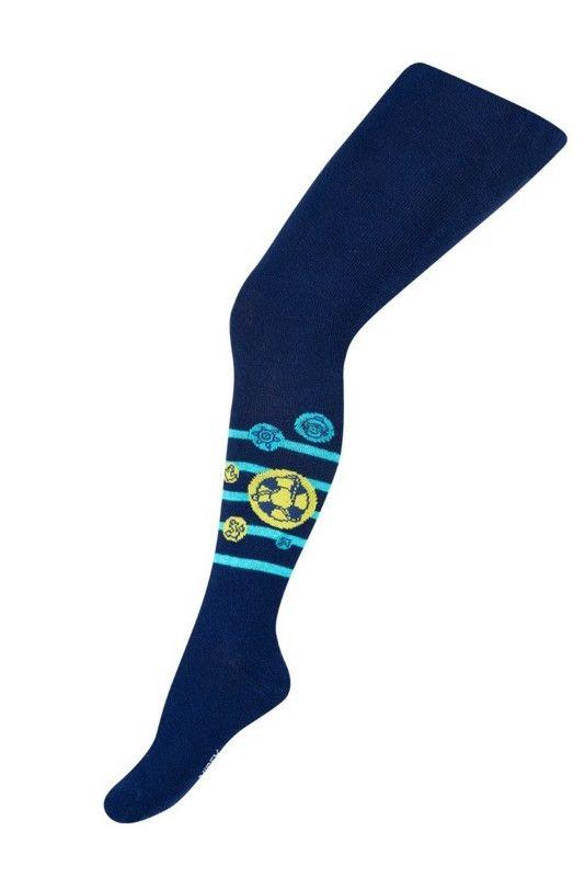Темно-синие колготки Футбол для мальчика 2-3 лет
