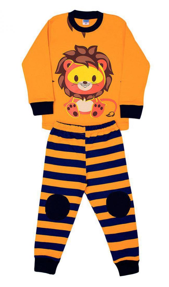 Оранжевая пижама для мальчика Лев