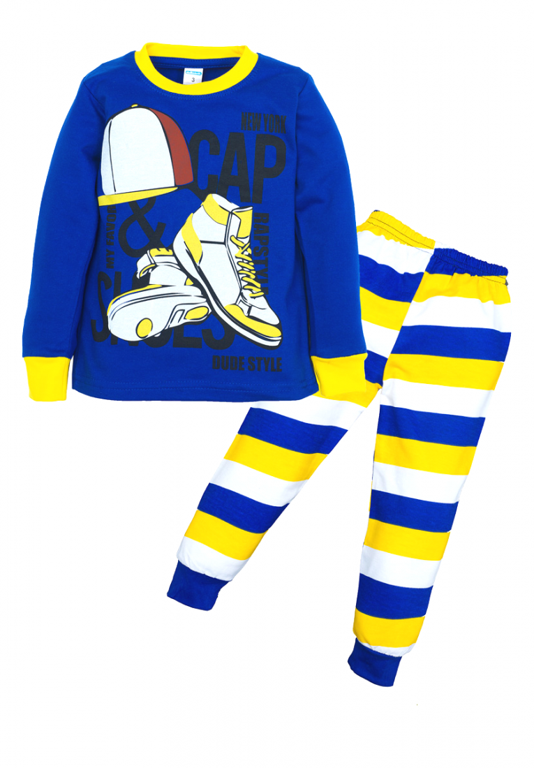Синяя пижама для мальчика Спорт