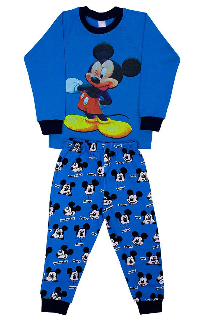 Синяя пижама для мальчика Микки-Маус
